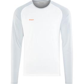 Bergans Slingsby Camiseta de manga larga Hombre, white/alu/pumpkin